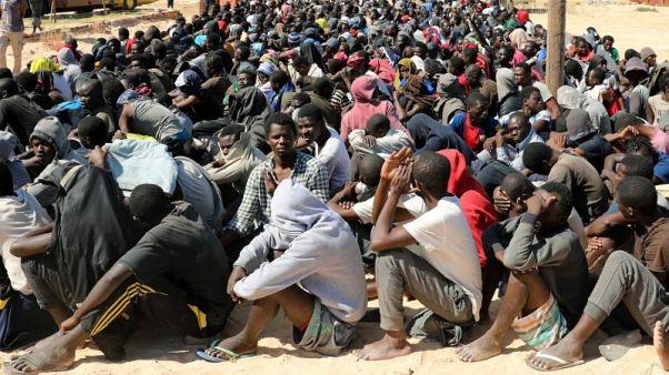 """منظمة: مهاجرون محتجزون في مركز ليبي في حالة """"حرجة"""""""