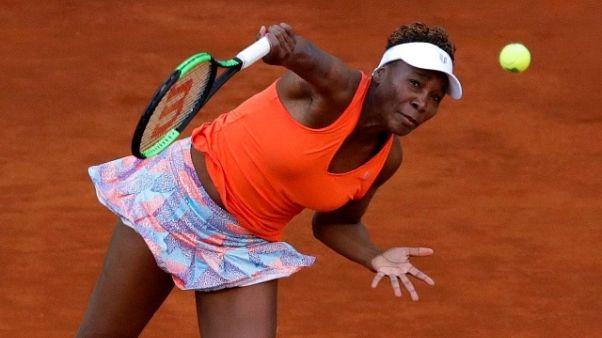 Open Bnl: Venus Williams arrivata a Roma