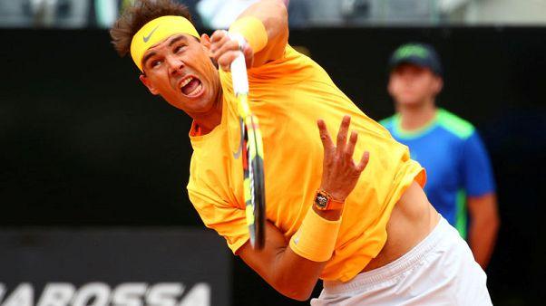 نادال يبلغ الدور الثالث في بطولة ايطاليا المفتوحة للتنس وخروج تيم