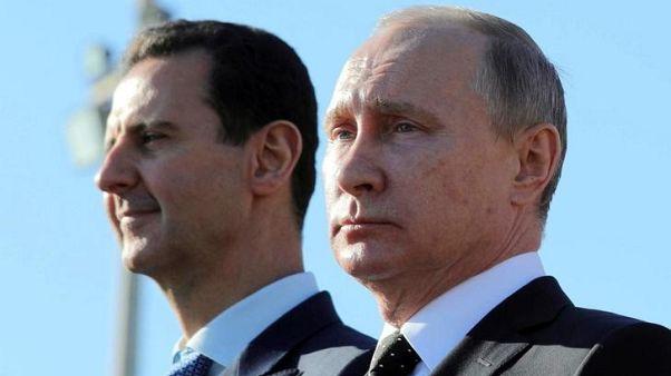 الكرملين: الأسد يجري محادثات مع بوتين في منتجع سوتشي الروسي
