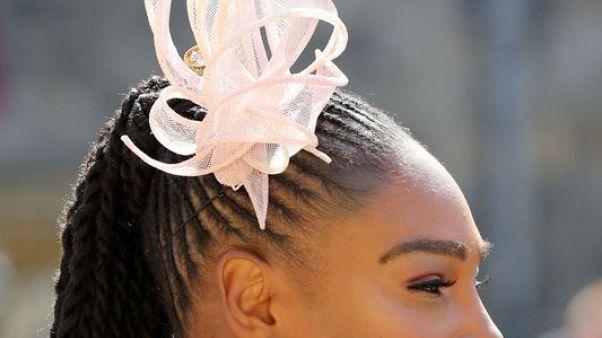 ملكة التنس الأمريكية سيرينا وليامز تحضر الزفاف الملكي