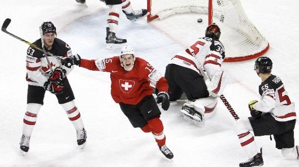 Hockey Ghiaccio: Mondiali, boom Svizzera