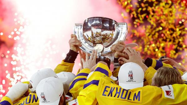 Ice Hockey - Swedes beat Swiss in penalty shootout to defend world title
