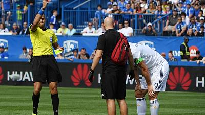 Ibrahimovic sent off for head slap as Galaxy beat Impact
