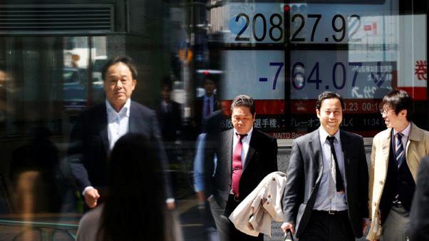 أسهم اليابان تنخفض من أعلى مستوى في 3 أشهر ونصف بفعل تراجع القطاع المالي