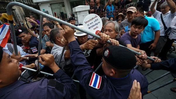مواجهة بين شرطة تايلاند ومحتجين نظموا مسيرة مناهضة للحكومة
