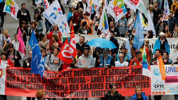 French unions lead more protests against public service shakeup
