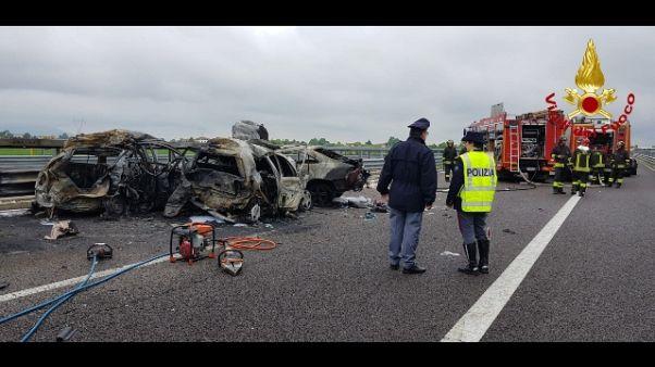 Incidente su A31, salite a 4 le vittime