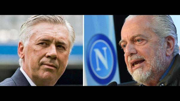 A Roma incontro De Laurentiis-Ancelotti