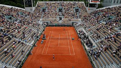 No need for 'Quiet Please' at French Open - stands half empty