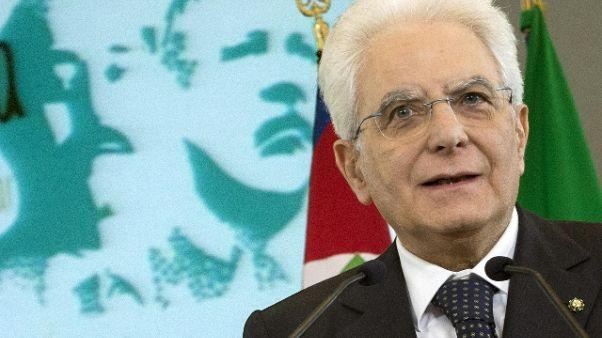 Mattarella, la mafia sarà sconfitta