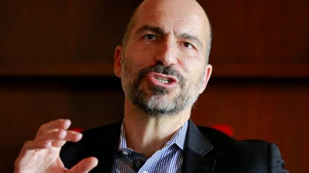 Uber widens health cover in Europe as new CEO meets France's Macron