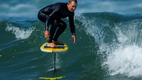 'Surf's up' takes on new meaning for California foilboarders