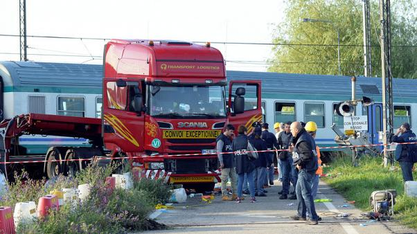 Two die, 18 injured in train accident in Italy