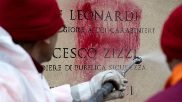 Denunciato per scritta su monumento Moro