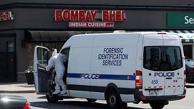Canada police seek suspects in restaurant bombing, 15 injured