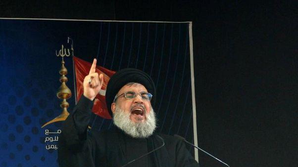 """نصر الله يقول إن العقوبات الأمريكية """"جزء من المعركة"""""""