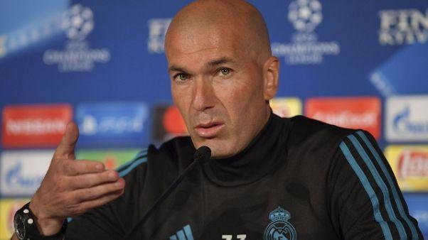 """Champions: Zidane """"non siamo favoriti"""""""