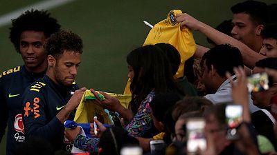 Fans invade training ground to watch Brazil train