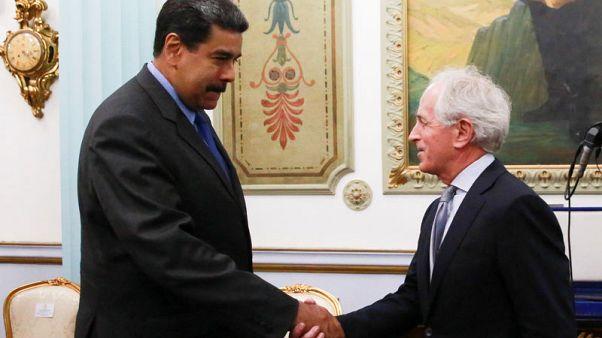 Venezuela's Maduro meets U.S. senator after election, sanctions