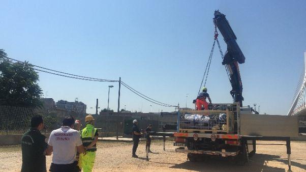 Palagiustizia Bari,oggi montaggio tende