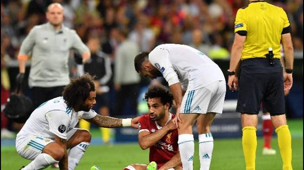 Champions: Salah infortunato,deve uscire
