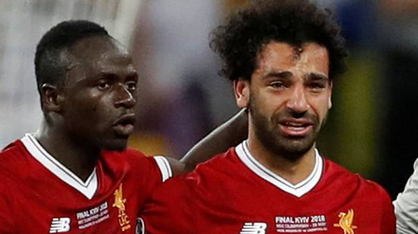 Teary Salah goes off injured in Champions League final