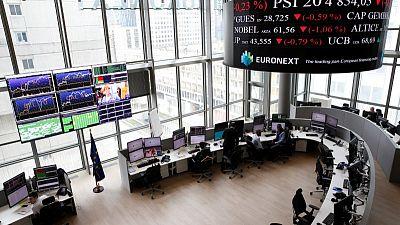 European stocks cautious as commodities, tech stocks pull higher