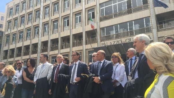 Palagiustizia Bari: toghe in corteo