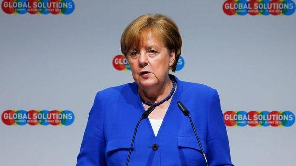 Germany worried at signs of fraying multilateral order - Merkel