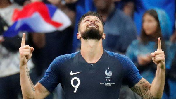 Giroud scores landmark goal as France beat Ireland