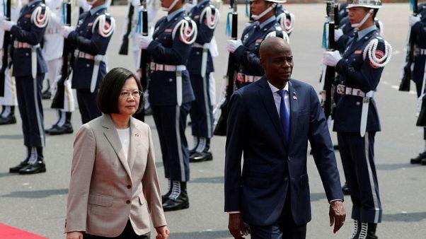 Taiwan welcomes Haiti president as China chips away at allies
