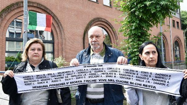 Heysel, piazza Torino dedicata a vittime