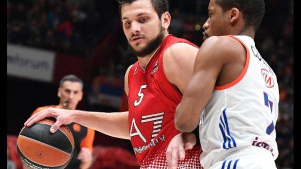 Basket: infortunio Gentile, 2 mesi stop