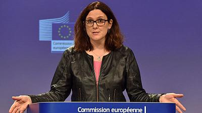 EU seeks U.S. tariff exemption in talks on Wednesday - Malmstrom