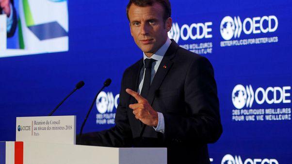 ماكرون يدعو ِإلى إصلاح قواعد التجارة العالمية