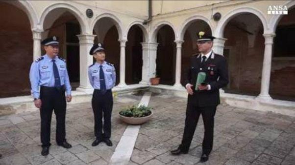 Venezia, pattuglie con poliziotti cinesi