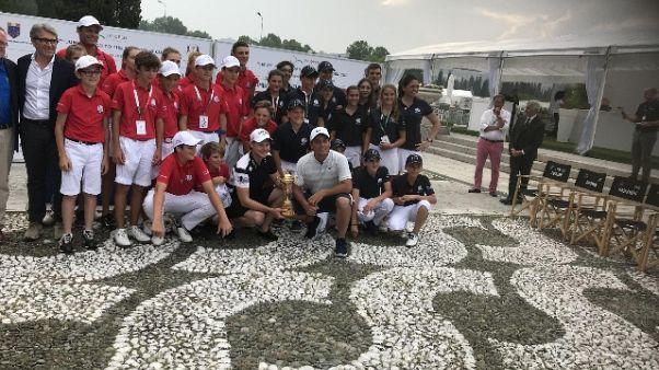 Team Italia vince sfida jr modello Ryder