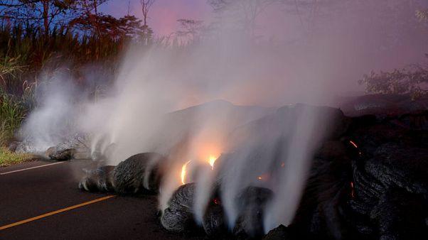 أوامر بالإخلاء في جزيرة بيج أيلاند بهاواي بعد تدفق حمم بركانية