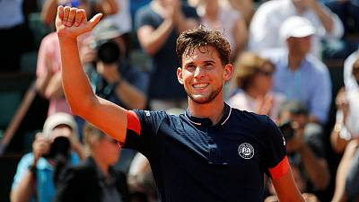 Thiem ends Cecchinato's run to reach French Open final