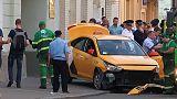 سيارة تصدم حشدا في موسكو بينهم مشجعون لكرة القدم وإصابة سبعة