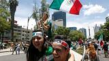Mexicans throng streets at home after surprise World Cup win over Germany