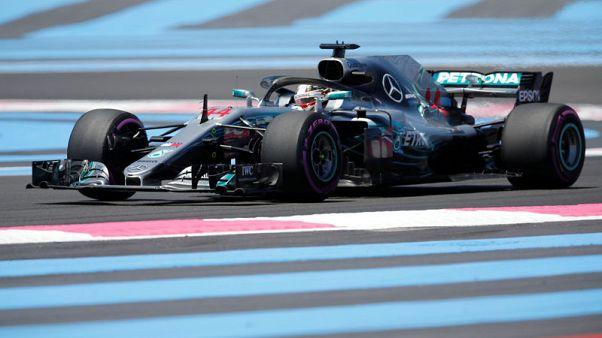 هاميلتون الأسرع في تجارب جائزة فرنسا الكبرى
