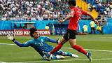 Vela penalty gives Mexico 1-0 halftime lead