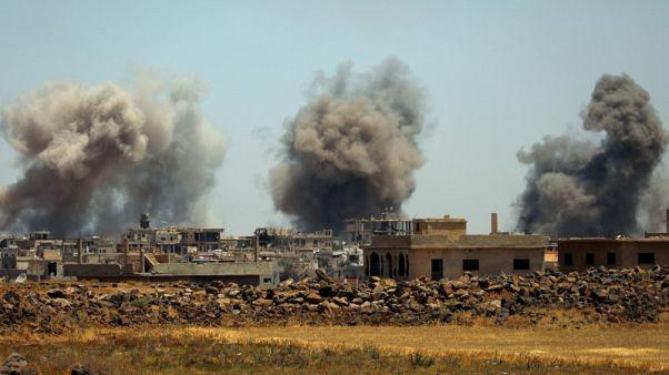 قوات الحكومة السورية توسع هجومها في الجنوب الغربي ونزوح الآلاف
