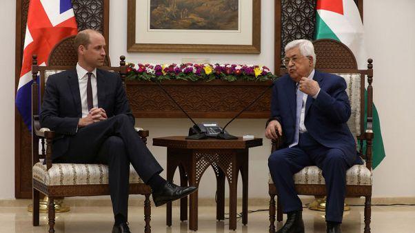 الأمير البريطاني وليام يقوم بأول زيارة ملكية رسمية للضفة الغربية المحتلة