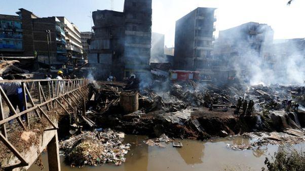 مقتل 15 وإصابة 70 في حريق بسوق في نيروبي