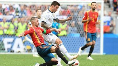 Mondial: prolongation pour Espagne-Russie, à égalité 1-1