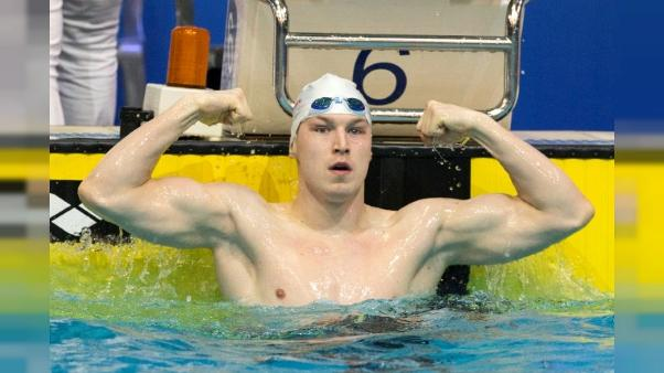 """Natation à Rome: l'Ukrainien Andriy Govorov bat le record du monde du 50 m papillon en 22""""27(médias)"""