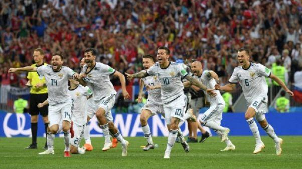 Mondial-2018: oubliés les doutes, la Russie à fond dans le Mondial